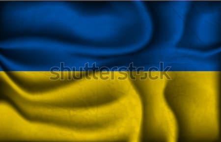 Fali kraju banderą świat Afryki Zdjęcia stock © Panaceadoll