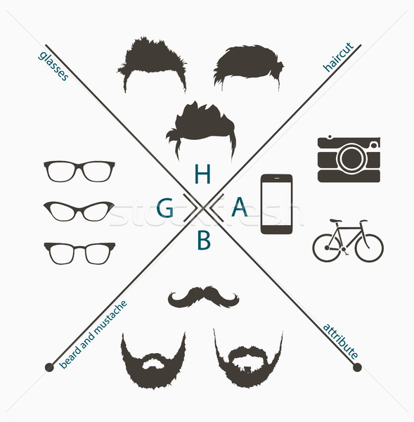 hipster style elements Stock photo © Panaceadoll