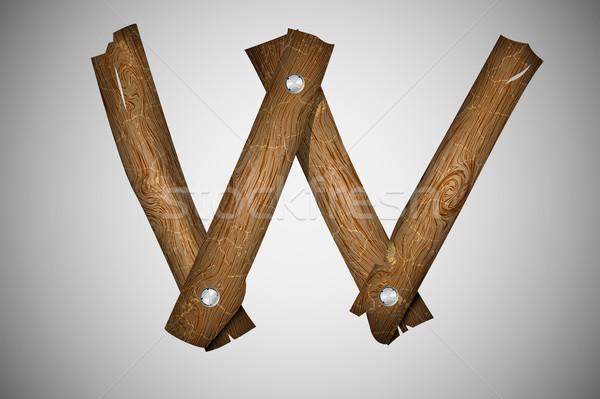 Alfabeto carta textura árvore madeira Foto stock © Panaceadoll