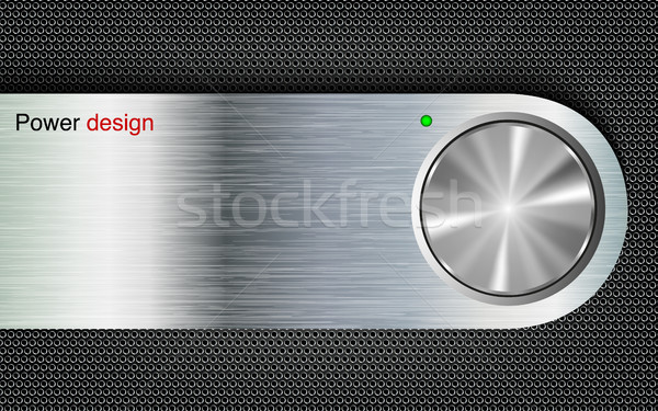 power button on a metal background Stock photo © Panaceadoll