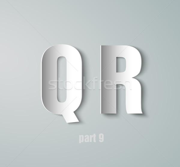 Vector Paper Graphic Alphabet Stock photo © Panaceadoll