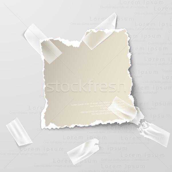 Design elementi carta strappata trasparente sfondo gruppo Foto d'archivio © Panaceadoll