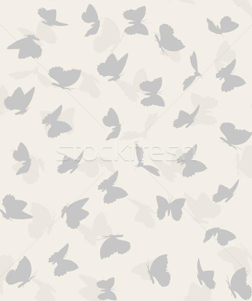 Modèle battant papillons pastel couleurs fleur Photo stock © Panaceadoll