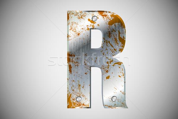 Metal litery alfabet technologii podpisania przemysłowych Zdjęcia stock © Panaceadoll