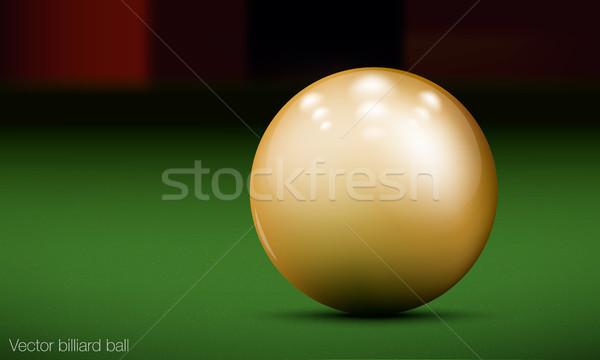 Valósághű biliárd labda biliárdasztal fény terv Stock fotó © Panaceadoll