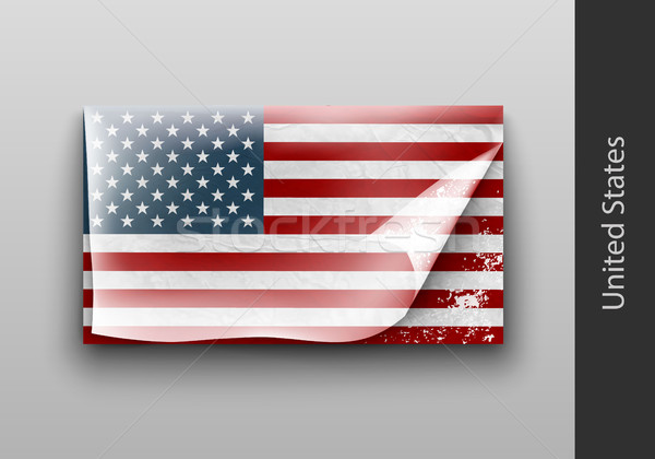 Stock photo: Flag of USA as a country with a shadow