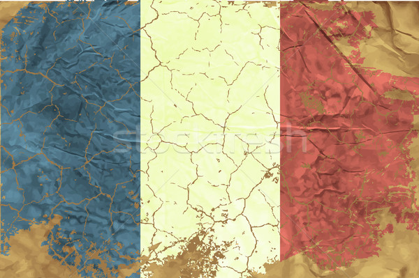 Vintage French flag Stock photo © Panaceadoll