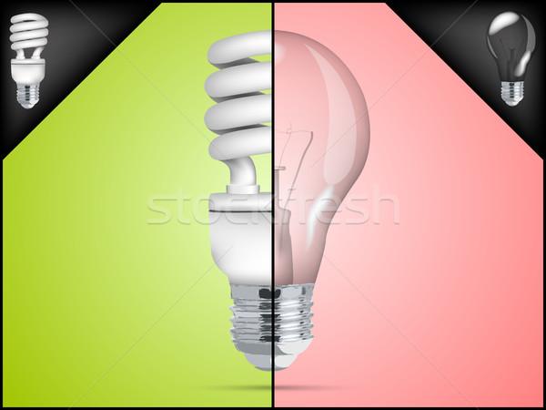 energy saving light bulb in infographic Stock photo © Panaceadoll