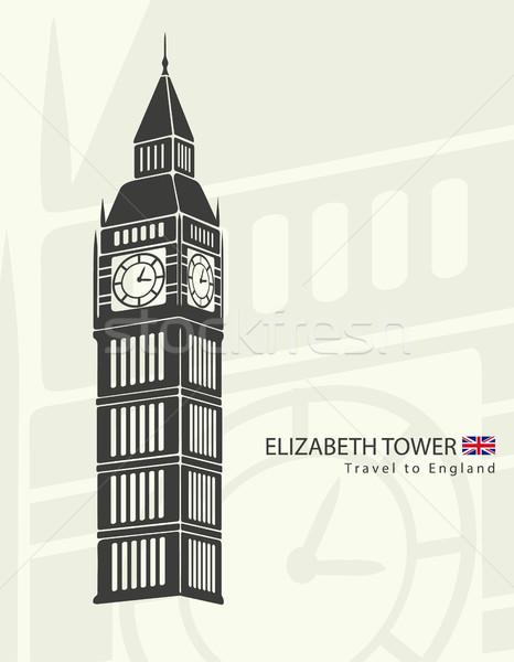 Elizabeth tower clock big Ben in London Stock photo © Panaceadoll