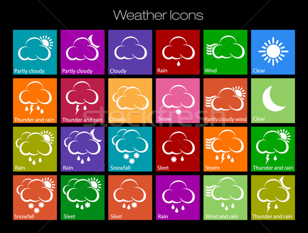 Weather Icons clouds Stock photo © Panaceadoll