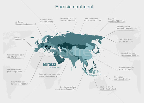 infographics parts of the world in the earth colors with data and numbers Stock photo © Panaceadoll
