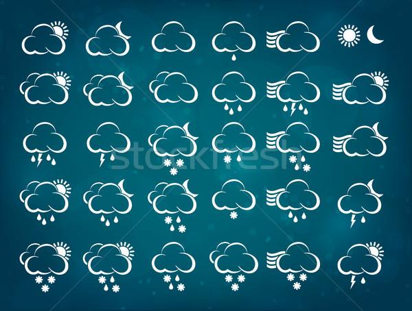 Meteo icone nubi sole natura neve Foto d'archivio © Panaceadoll