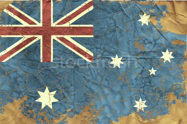 Vintage Australian Flag Stock photo © Panaceadoll