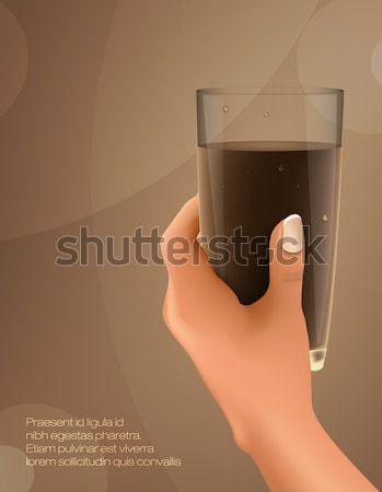 Hand beker koffie ontwerp chocolade Stockfoto © Panaceadoll