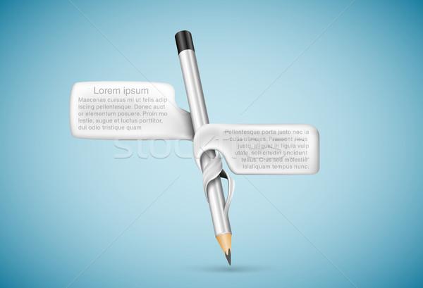 鉛筆 泡 文字 テクスチャ ペン デザイン ストックフォト © Panaceadoll
