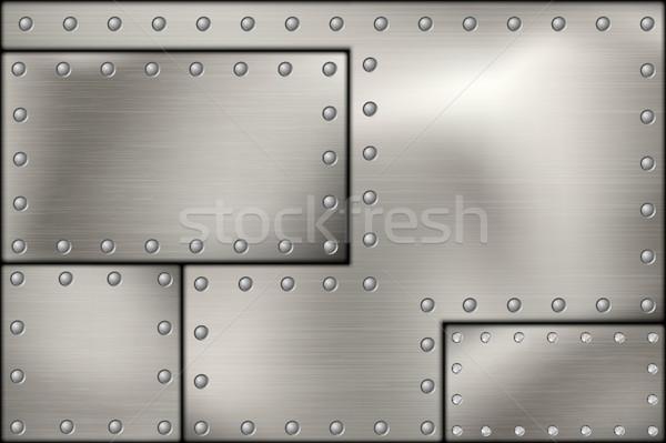 Stali metal tekstury budowy streszczenie tle Zdjęcia stock © Panaceadoll