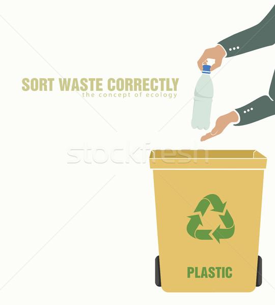 Plastica inquinamento ambiente rifiuti verde bottiglia Foto d'archivio © Panaceadoll
