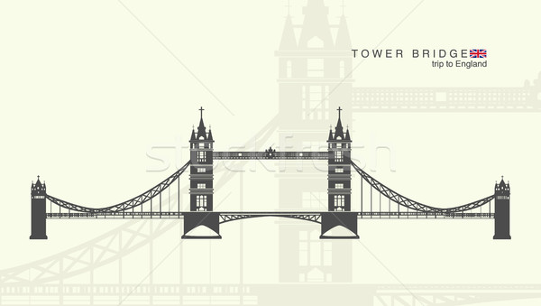 isolated figure of the tower bridge in London Stock photo © Panaceadoll