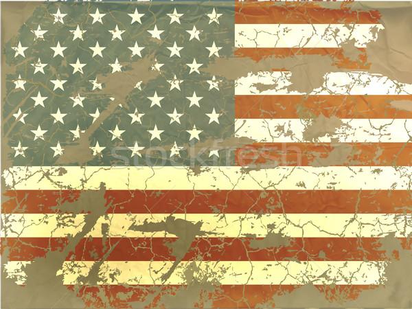 Vintage bandiera americana sfondo bandiera rosso retro Foto d'archivio © Panaceadoll