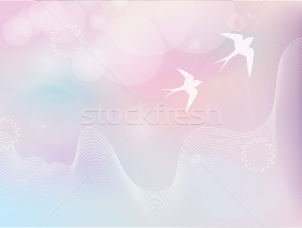 Foto stock: Vuelo · aves · pastel · colores · papel · textura