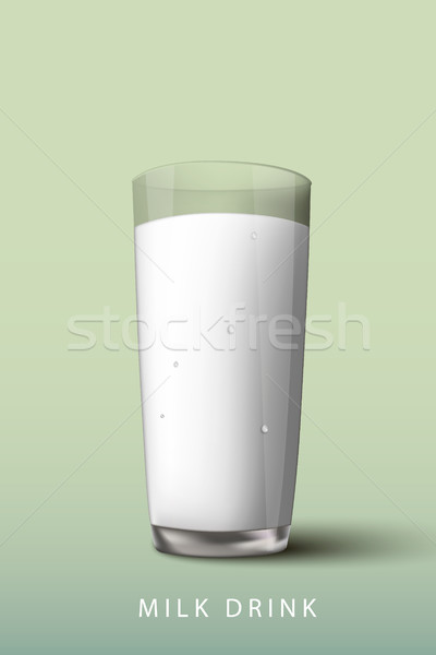 Latte bere vetro verde cool liquido Foto d'archivio © Panaceadoll