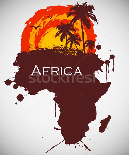 Африка саванна фауна флора небе текстуры Сток-фото © Panaceadoll