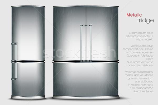 vector metallic refrigerator Stock photo © Panaceadoll