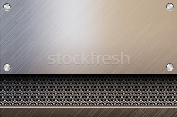 シームレス 金属の質感 抽象的な 光 背景 金属 ストックフォト © Panaceadoll