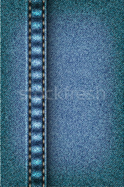 Jeans texture with seam Stock photo © Panaceadoll