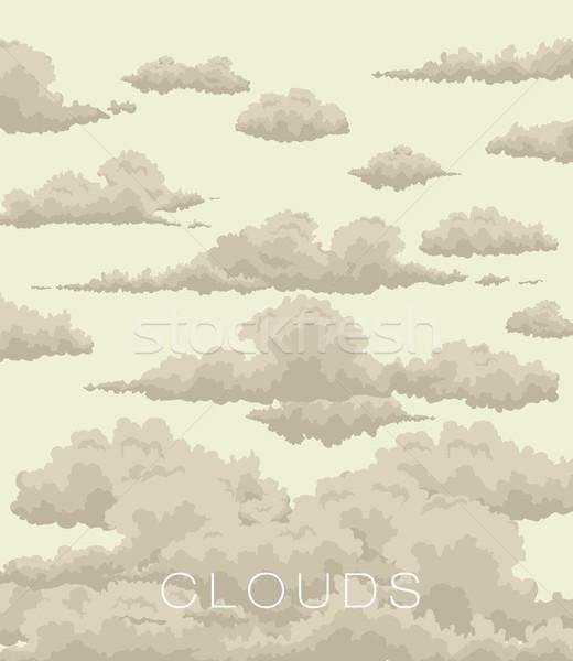 Abstract nubi cielo vintage stile natura Foto d'archivio © Panaceadoll