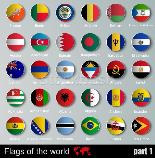 Bayraklar tüm 3d top gölgeler dizayn Stok fotoğraf © Panaceadoll