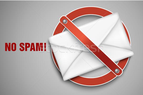 Vetor ícones pare spam computador caixa Foto stock © Panaceadoll