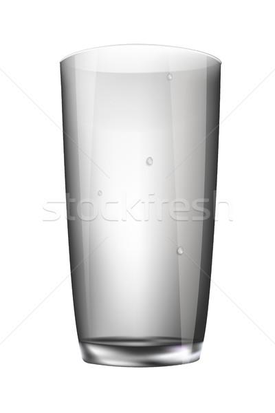 ガラス 空っぽ 孤立した 白 水 ドリンク ストックフォト © Panaceadoll