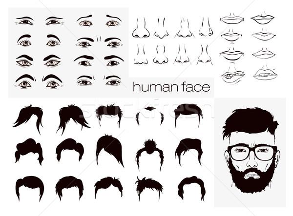 Peinados barba cara completo negocios moda Foto stock © Panaceadoll