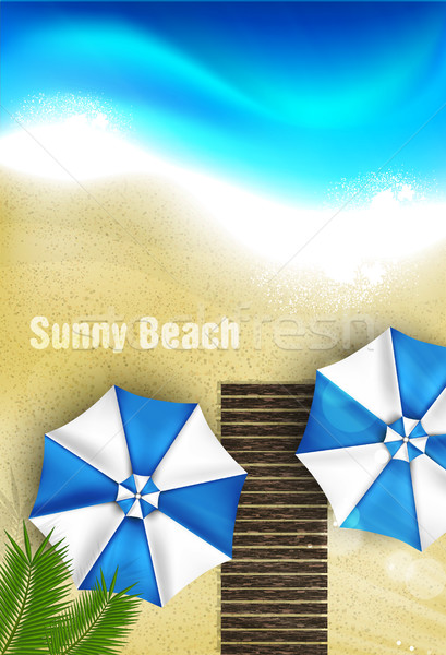 Coppia ombrelli spiaggia grafica arte albero Foto d'archivio © Panaceadoll