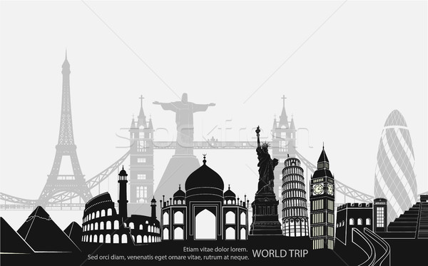 landmark world bookmark for travel Stock photo © Panaceadoll