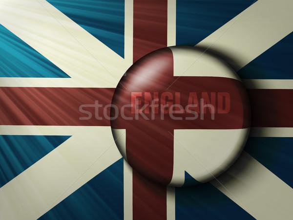 Brit zászló sugarak háttér utazás zászló piros Stock fotó © Panaceadoll