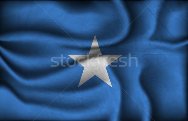 Onda paese bandiera ombre mondo africa Foto d'archivio © Panaceadoll