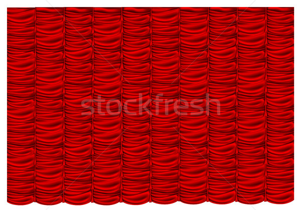 Vector rojo seda cortina oscuridad fondo Foto stock © Panaceadoll