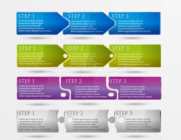 Um dois três progresso passos abstrato Foto stock © Panaceadoll