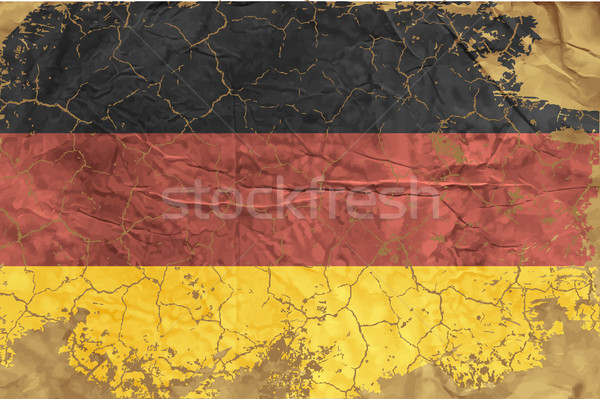 Vintage German flag Stock photo © Panaceadoll