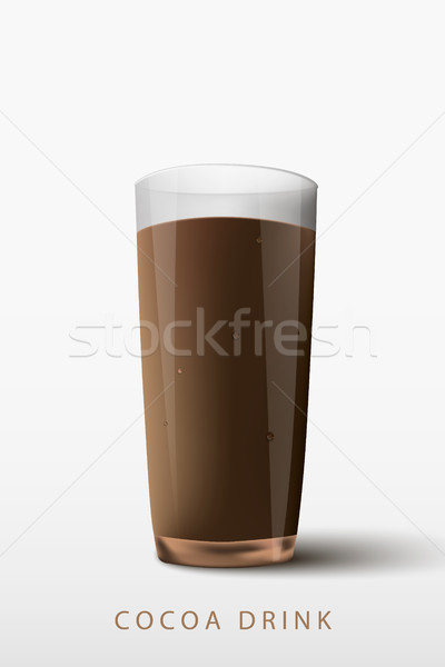 cocoa drink a glass on a white background Stock photo © Panaceadoll