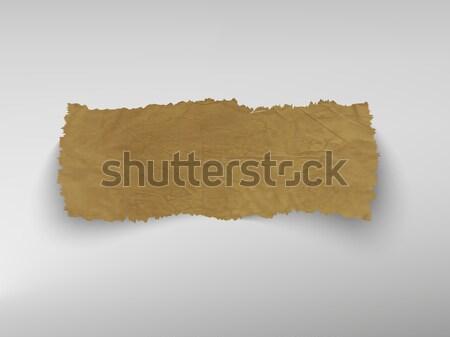 scrap of old paper. vector Stock photo © Panaceadoll
