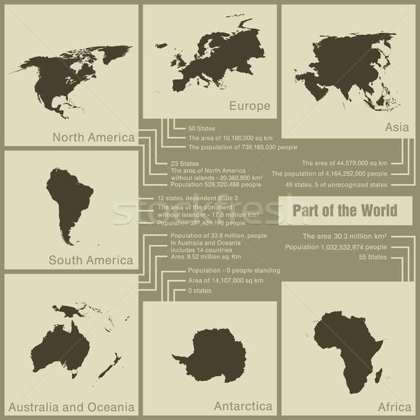 インフォグラフィック 世界 地球 色 データ ストックフォト © Panaceadoll
