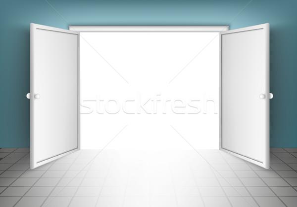 Open deuren kamers business muur abstract Stockfoto © Panaceadoll