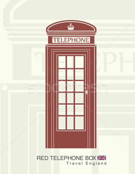 Figura rojo teléfono cabina Inglaterra teléfono Foto stock © Panaceadoll