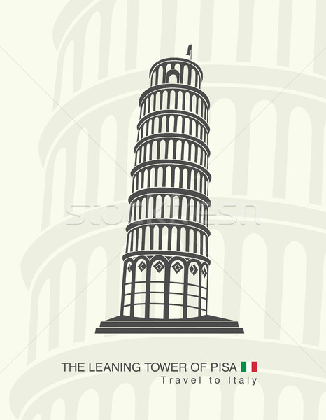 figure leaning tower of Pisa in Italy Stock photo © Panaceadoll