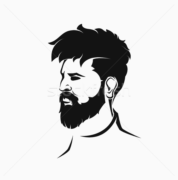 icons hairstyles beard and mustache hipster Stock photo © Panaceadoll