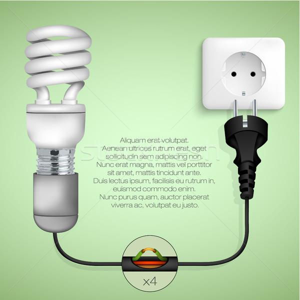 Stockfoto: Schone · groene · energie · boom · licht · kunst · teken