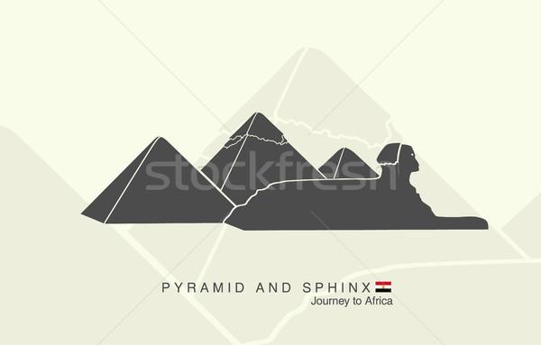 Formas pirâmides giza mundo fundo deserto Foto stock © Panaceadoll